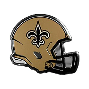 NFL New Orleans Saints Helmet Emblem, Black, Standard