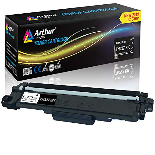 Black Toner Refill Chip - Arthur Imaging with CHIP Compatible Toner Cartridge Replacement Brother TN227 (Black, 1 Pack)