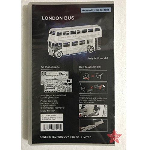 Moutu 3D Metal Puzzle London Bus Model Kits I22207 DIY 3D Laser Cut Assemble Jigsaw Toy