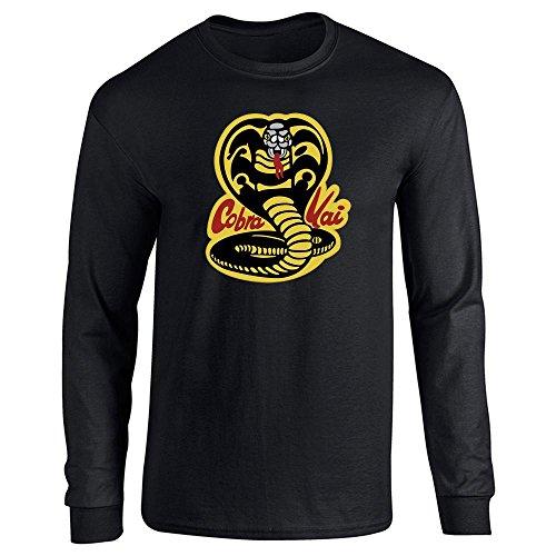 Cobra Kai Karate Dojo Halloween Costume Vintage Retro 80s Apparel Movie Black L Long Sleeve T-Shirt