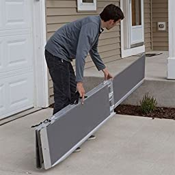 4 ft. Silver Spring Multi-Fold Mobility Scooter and Wheelchair Ramp