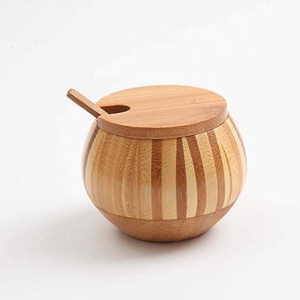 Amazon.com: FEFEFEF Spice jar Bamboo Japanese Kitchen ...