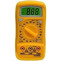 Mastech Mas830L Pocket Palm Size Digital Multimeter Date Hold AC DC Voltage Current Back Light by Mastech