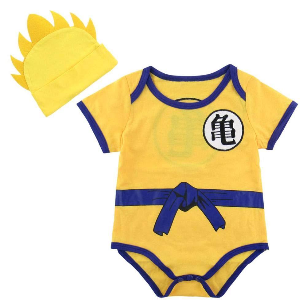 FidgetKute Baby Boy Anime Costume Bodysuit Newborn Summer Outfits Sets Infant Cute Playsuit
