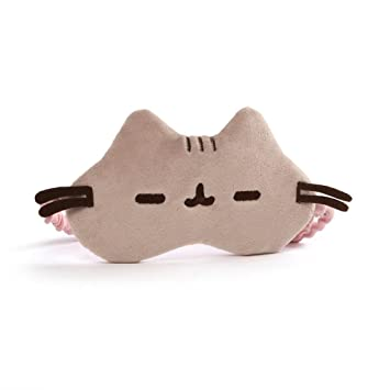 Gund Pusheen Cat Plush Stuffed Animal Sleep Mask Gray 8