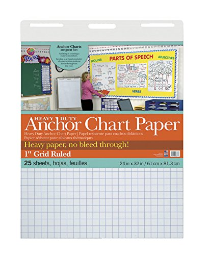 Pacon Heavy Duty Anchor Chart Paper, Grid, 24 x 32 in