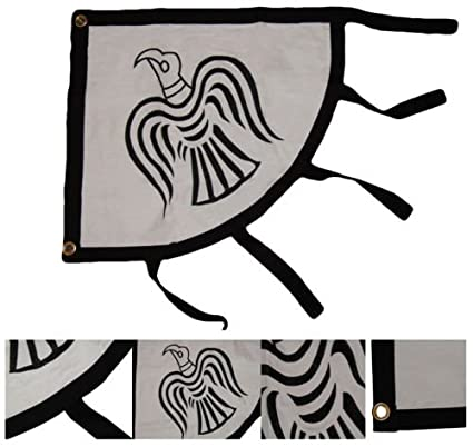 Amazon.com: Luna 2 x 3 vikingos Raven FLAG SEWN ...