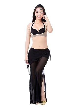 ZhiYuanan Mujer 2Pcs Traje De Danza del Vientre Manga Larga Tops & Pantalones Set