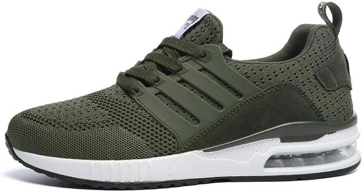 fumar Humilde Azul  Amazon.com: Zapatillas profesionales de malla transpirable para correr,  color verde militar, para primavera, otoño, caminar, para hombre y mujer:  Shoes