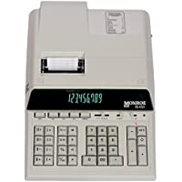 Monroe 8145X 14-Digit Printing Calculator With Optional Supplies and Foam Elevation Wedge (Calculator, Ivory)