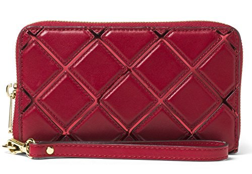 MICHAEL Michael Kors Jet Set Travel Diamond Quilt Leather Large Flat Phone - Quilt Leather