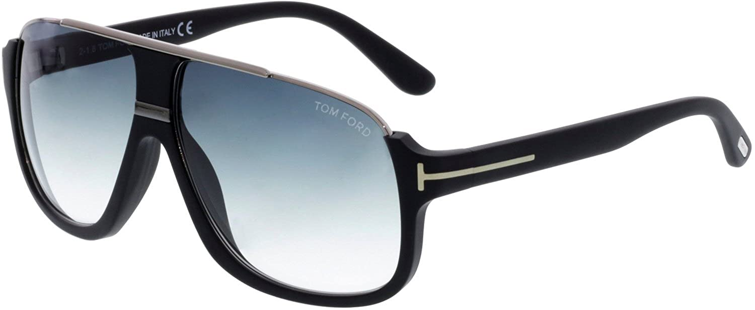 56fc7bcbc808e Amazon.com  Tom Ford Tf 335 Eliott Matte Black Silver Frame Gray Lens 60Mm  Tom  Ford  Clothing