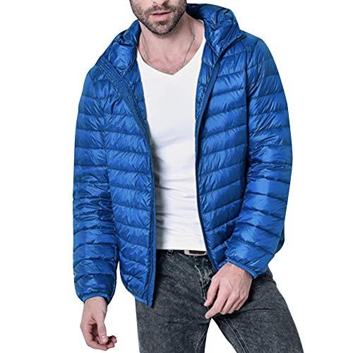 Il Basso Reale Con Cappuccio Invernale Blu Maschile Leggero Calda Youthup Verso Giacca Casual qU80vw