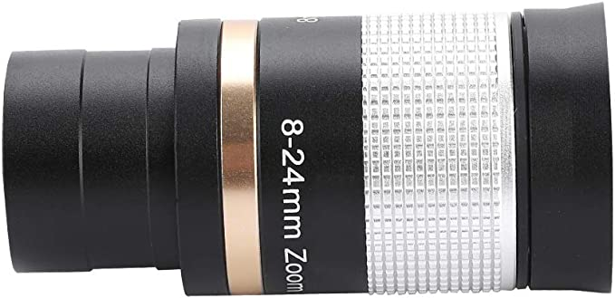 Xinwoer Astronomical Telescope Eyepiece 1.25in 8-24mm Zoom Eyepiece Multi Coated Optic Lens for Telescope,for Observing Scenery,Lunar Surfaces,Planets,Nebulae,Clusters