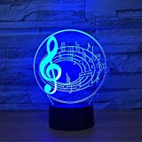 3D Optical Illusion LED Nigth Light Music Note Table Desk Lamp 7 Color Changeable LED Night Light Home Party Decoration for Birthday Gift Christmas Xmas Festival Toy Gift for Music Lovers Fans … Review