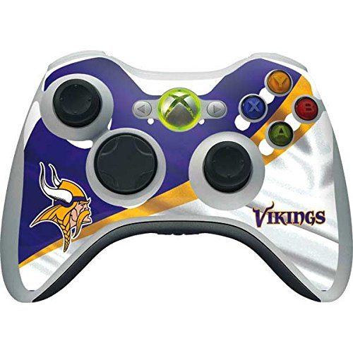 Skinit NFL Minnesota Vikings Xbox 360 Wireless Controller Skin - Minnesota Vikings Design - Ultra Thin, Lightweight Vinyl Decal Protection