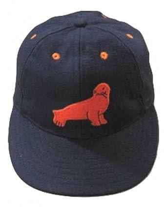 Ideal Cap Co. San Francisco Seals Vintage Baseball Cap 1940 6 7 8 Navy 24bfe39e132b