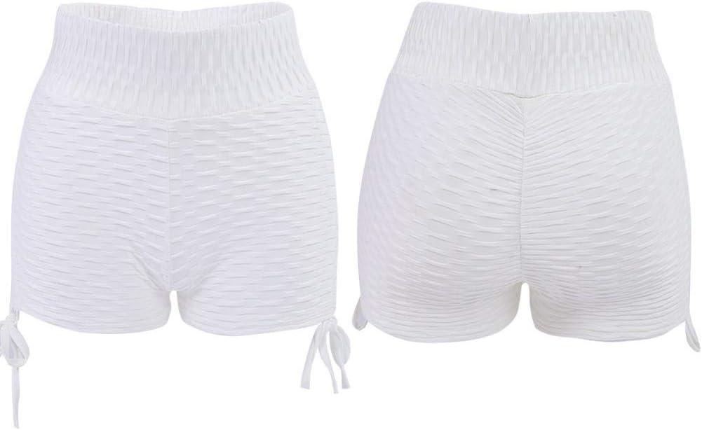 Zer one Moda atl/ética Color s/ólido Pantalones Pantalones Cortos Deportes Fitness Leggings el/ásticos para Mujeres