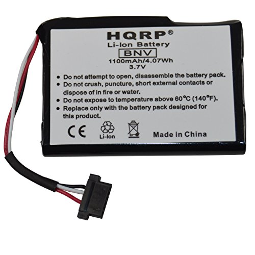 HQRP 1100mAh Battery for Magellan RoadMate 1700LM 5045LM 2000 2200T 2250T 9212T-LM GPS Navigator 1700-LM 5045-LM T300-3 T3003 ()