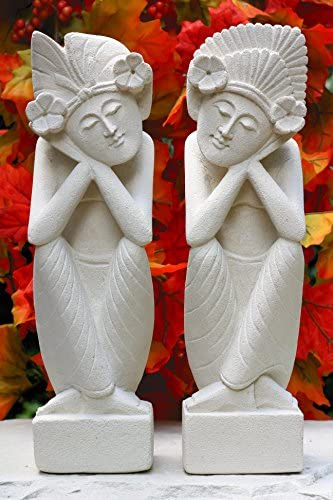 G6 Collection Hand Carved Limestone Sculpture Set of 2
