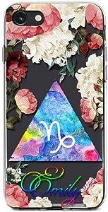Kaidan iPhone 8 Plus Case Custom Name 12 Mini 11 Pro SE Capricorn Zodiac Sign X XR XS Max 6 6s Samsung Galaxy Note 20 Ultra 10 Lite 9 Floral Astrology S20 S10 + S9 S8 S21 A71 Google Pixel 3 XL SaO234