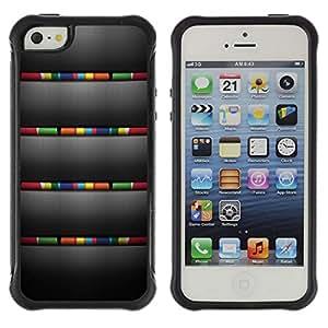 Suave TPU GEL Carcasa Funda Silicona Blando Estuche Caso de protección (para) Apple Iphone 5 / 5S / CECELL Phone case / / Brushed Grey Colours Stripes /