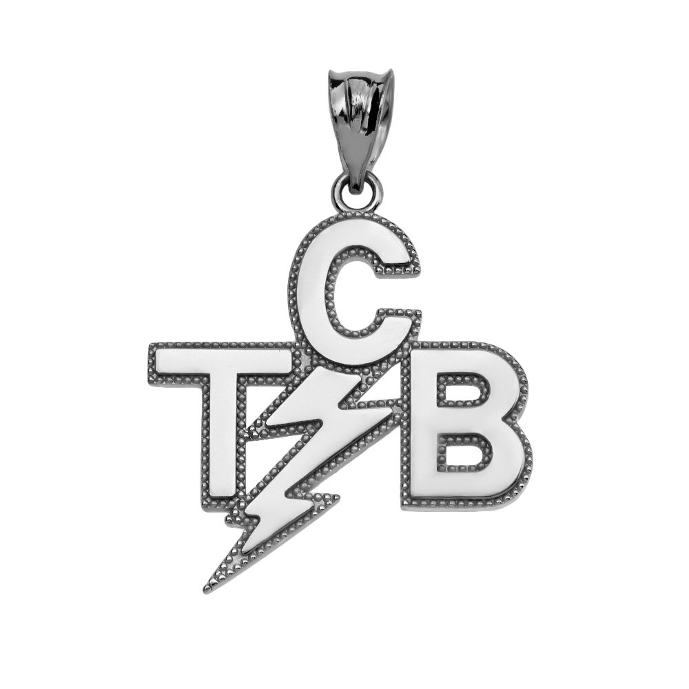Taking Care of Business In A Flash (TCB) Sterling Silver Pendant