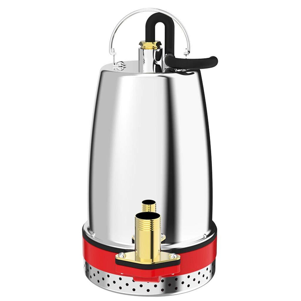 ZJ- submersible pump DC Submersible Pump 12V/24V/48V/60V Pump Large Flow Pump Clear Water Pump Self-Priming Pump Fountain Small Sprinkler Pump (Stainless Steel Impeller) && (Color : 12V)