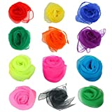 Simuer 12 Colors Rhythm Band Scarves Juggling Dance Scarves Square Movement Scarves Magic Tricks Performance Props Accessories 12pcs (Assorted Color)