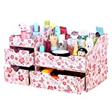 dolly2u Fashion Wooden Make-up Storage Box Cosmetic Display Organizer Iris Japonica B