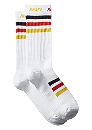 827f915b Amazon.com: Palace Skateboards White Color Germany Socks ...