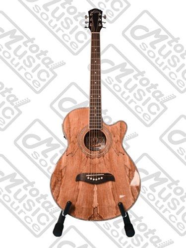 Oscar Schmidt OG10CE Concert/Folk A/E Guitar, Spalted Maple Top, OG10CESM