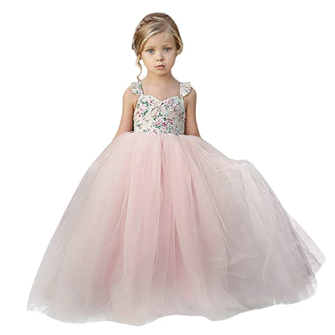 Kids' Clothing, Shoes & Accs Flower Girls Summer Skirt Princess Dress Kids Baby Party Pageant Wedding Dresses