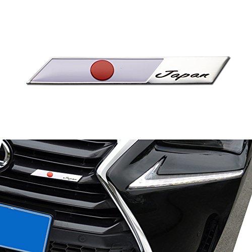 GTINTHEBOX 3D Aluminum Plate JDM Japanese Japan Flag Emblem Badge Sticker For Japanese Car SUV Front Grille, Side Fenders, Trunk, Dashboard Steering Wheel, Interior Decoration, etc ()