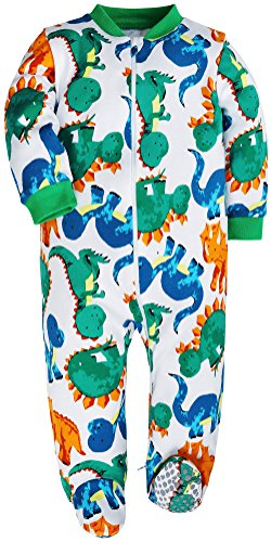 HONGLIN Baby Boys 2-Pack Footed Baby Pajamas Sleepers Rompers 100% Cotton Non-Slipping Sole (Dinosaur+Plane, 12-18 Months) by HONGLIN (Image #6)