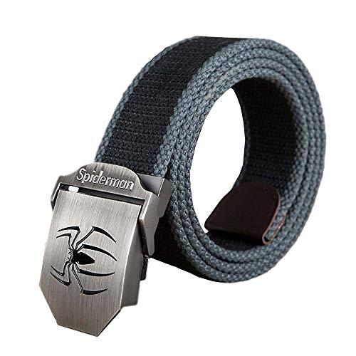 Casual Military Belt Outdoor Tactical Belt Men&Women Canvas Belts For Jeans Male Luxury Casual Straps Ceintures Spiderman -