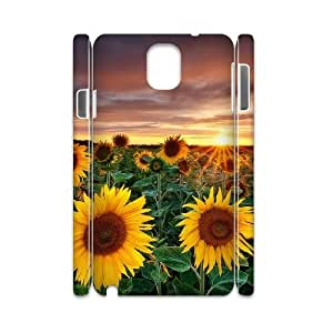 Sunflower Unique Design 3D Cover Case for Samsung Galaxy Note 3 N9000,custom cover case ygtg563601