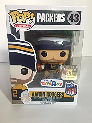 Aaron Rodgers Funko POP! NFL Toys R Us Exclusive Throw Back Jersey Figure