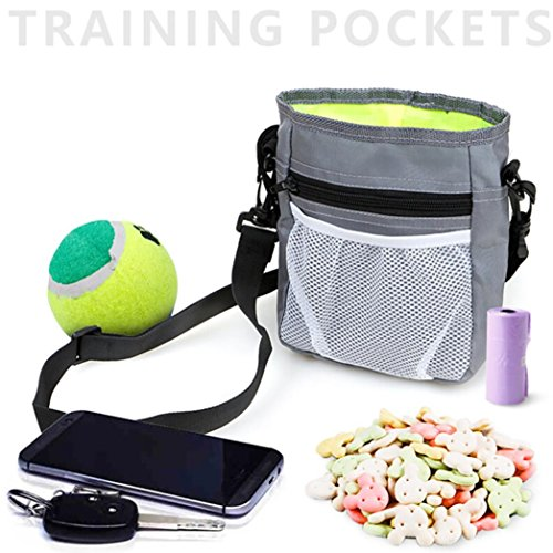 Price comparison product image Nacome Pet Snack bag Training Pockets Snack Bait Dog Obedience Agility Outdoor Pouch Food Bag (Gray)