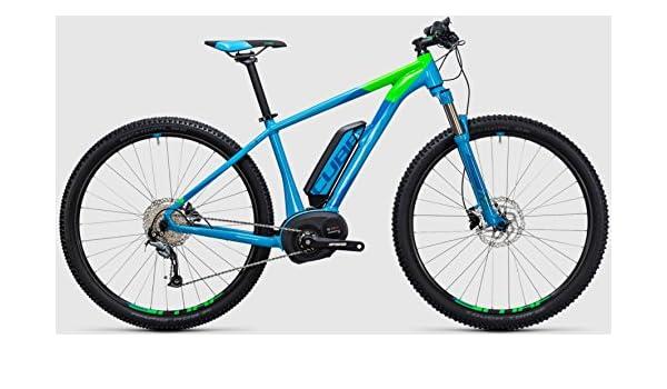 Cube Reaction Hybrid One 400 WH 29R bicicleta eléctrica/TWEN tyniner Mountain Ebike 2017, azul y verde: Amazon.es: Deportes y aire libre