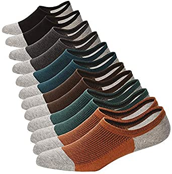 6 Pairs New Men Cotton Nonslip Invisible No Show Low Cut Loafer Boat Socks