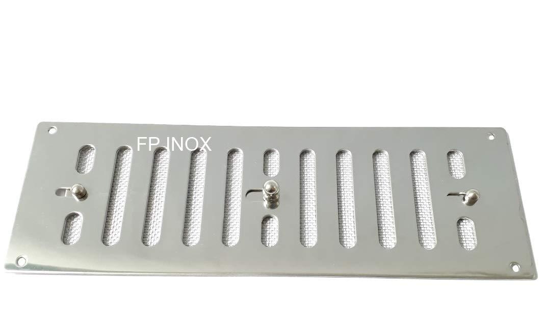Rejilla mosquitera acero inoxidable lamelle ajustable 228 x ...