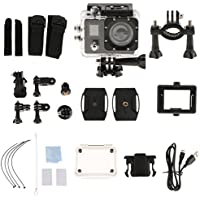 MagiDeal Sports Camera Video 4K WIFI Action Cam 16 MP Underwater HD 1080P Black
