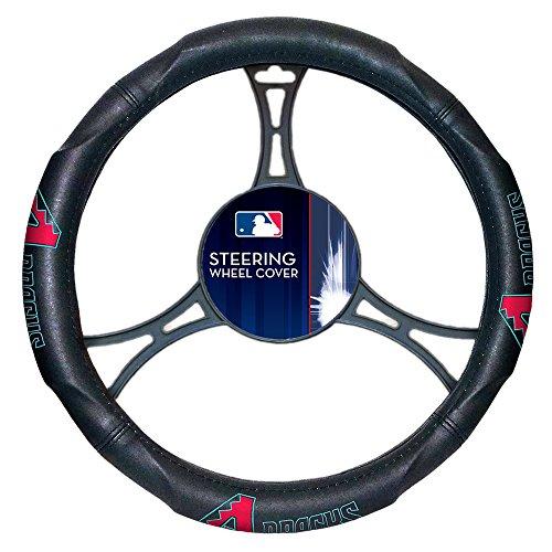 The Northwest Company MLB Arizona Diamondbacks Licensed Steering Wheel Cover, One Size, (Arizona Diamondbacks Mlb Car)