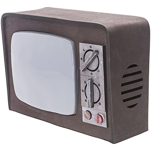 Prextex Broken Terror Television with Lights and Sound Best Halloween Haunted House Prop (Halloween Props)