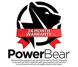 PowerBear iPhone Car Charger with 3ft Lightning Power Cable [MFI Apple Certified] Car Charger for iPhone 5 /5S/5C/5SE/6/6S/6 Plus/6S Plus/iPad/iPod | 4.8A/24W | Black [24 Month Warranty]