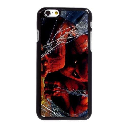 Y1I03 spider man illustration X1D3JJ coque iPhone 6 4.7 pouces cas de couverture de téléphone portable coque noire XA1TXB6OK