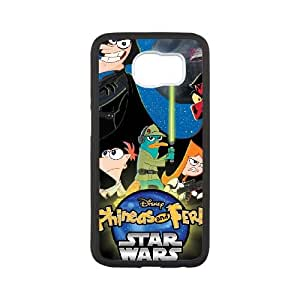 Samsung Galaxy S6 Cell Phone Case White Phineas & Ferb Across the 2nd Dimension J3417456