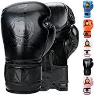 TEKXYZ Bad Kids Series Boxing Gloves - 1 Pair Synthetic Leather Kids Boxing Training Gloves with Vivid Color f