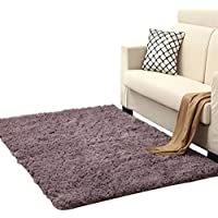 Super Soft Modern Shag Area Rugs Slip-resistant Living Room Carpet Table Bedroom Mats Full Size Multi-color